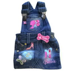 MonkeyDaze БАРБИ (Barbie Denim Overall Dress) котоновый комбез, одежда для собак